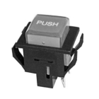 Non-Lighted Pushbutton Switch Black Plastic SPST NO 250VAC