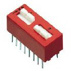 Transfer DIP Switch 2 Position Thru-Hole Mount
