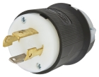 Locking Plug, 30A, 125/250V, 3P 4W Nylon Black/White