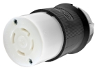 Locking Connector, 30A, 125/250V, 3P 4W Nylon Black/White