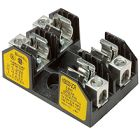 Fuse Block, Class H and K Fuse, 250VAC, 30 A, 2P, Spring Clip, Thermoplastic, 10 AWG Cu