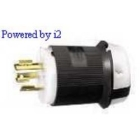 Locking Plug, 20A, 480V, 2P 3W Nylon Black/White