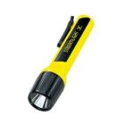 Flashlight, C Battery, 3 Cells, LED Bulb, Polymer Body/Polycarbonate Lens, Yellow, 9.30 in. L