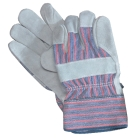 Gloves, Leather Palm, Cowhide Palm and Back, X-Large
