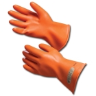Protective Gloves, Size 10, Natural Rubber, Orange, 11.00 in. L, Straight Cuff