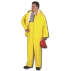 Rain Jacket, 36 to 38 in., PVC Paracril on Polyester, Yellow