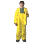 Rain Jacket, 36 to 38 in., Double Coated PVC on Polyester, Yellow, Snap Closure