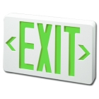 Exit Sign, 120-277 VAC, LED, Green Letter