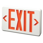 Exit Sign, 120-277 VAC, LED, Red Letter