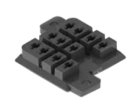 Relay Socket, 11 Pin Square, 3, Chassis, Standard, Black, Single-Tier, PCB