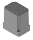 Enclosure/Dust Cover, Socket Relay, Polycarbonate, Clear, 2.63 in. L x 2.25 in. W