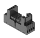 Relay Socket, 8 Pin Miniature , 2, DIN Rail, Double-Tier, Box Lug, Finger Safe
