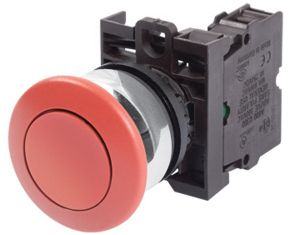 EATON MOELLER MUSHROOM SWITCH RED M22-DRP-R+M22-A PUSHBUTTON